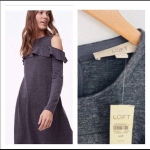Ann Taylor Loft knit gray dress